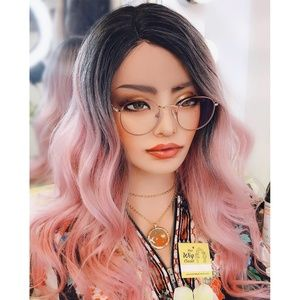 Pastel Pink Ombre Lace Front Wig | Ashley